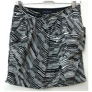 Banana Republic Black White Stripe Skirt 8